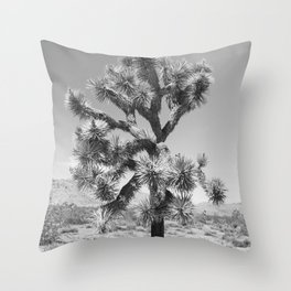 Joshua Tree Monochrome, No. 3 Throw Pillow