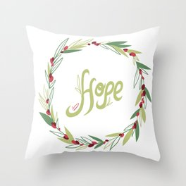 Wreath of hope Throw Pillow