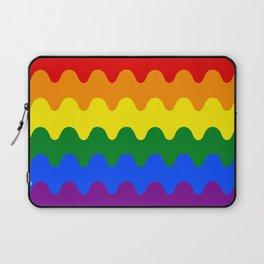 Wavy Gay Flag Laptop Sleeve