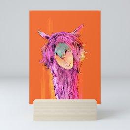 Leeroy the Llama Mini Art Print