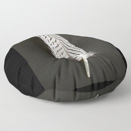 Silver Pheasant Feathers Floor Pillow