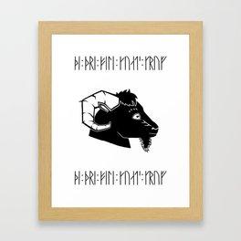Mr. Gruff Framed Art Print