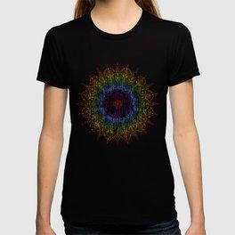 Rainbow Mandala Urban Decay Style - Vintage, Aged Pattern T-shirt