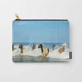 Wild Horses Swimming in Ocean Carry-All Pouch