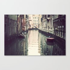 Boats in Venice Canvas Print