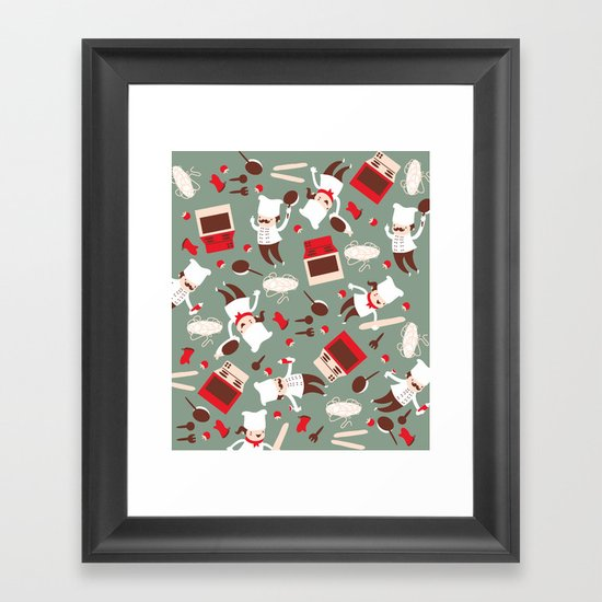 Chef pattern Framed Art Print