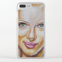 Scarlett Johansson Clear iPhone Case