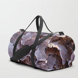 Fallen Oak Leaves Autumn Scene #decor #society6 #buyart Duffle Bag