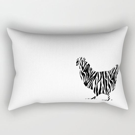 Chicken with zebra pattern Rectangular Pillow