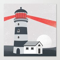 lighthouse Canvas Prints featuring Lighthouse by Mila Spasova