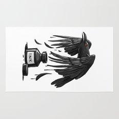 Ink Raven Rug