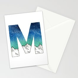 Galaxy Alphabet Series: M Stationery Cards