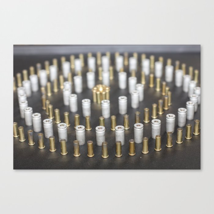 Brass Circle Canvas Print