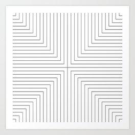Converge Three Black Art Print