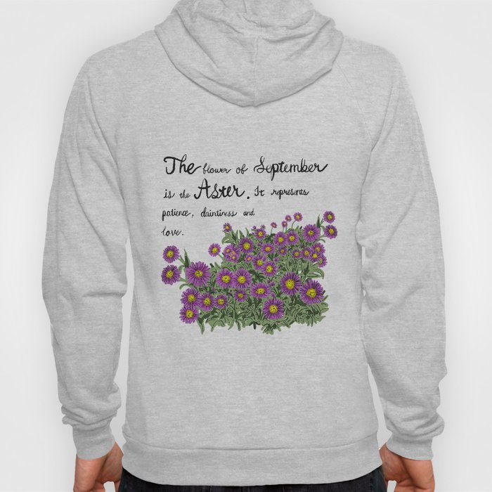 Aster - Birth Month Flower for September Hoody