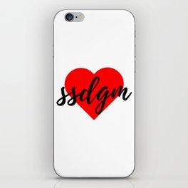 SSDGM iPhone Skin