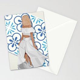 Summer Trip to Lisbon, Portugal Stationery Cards