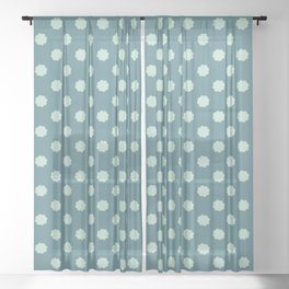1950s Style Polka Dots Seamless Pattern Sheer Curtain