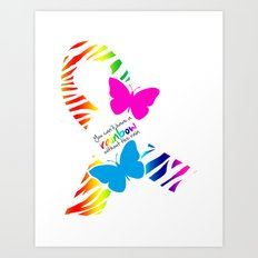 You can't have a Rainbow without the Rain - Awareness Ribbon - Commissioned Work Art Print