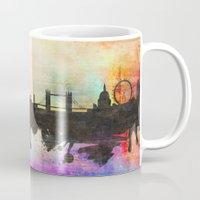 london Mugs featuring london by mark ashkenazi