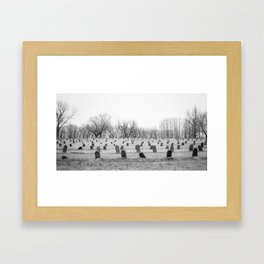 Numbers Without Names Framed Art Print