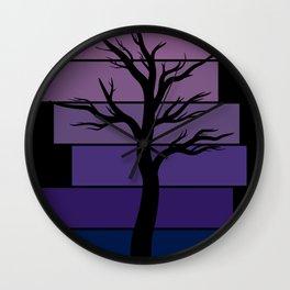 Tree Silhouette (Night Sky) Wall Clock