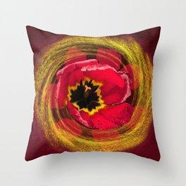 Tulip Swirls Throw Pillow