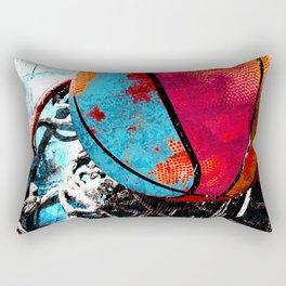 Basketball art swoosh vs 19 Rectangular Pillow