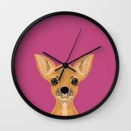 Lulu - chihuahua, cute pet cute dog cell phone case, gift for dog people Wall Clock