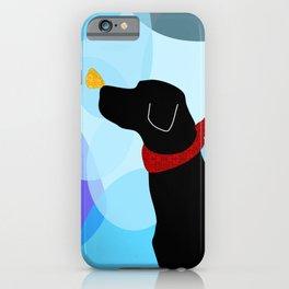 Black Labrador Retreiver Dog Print iPhone Case