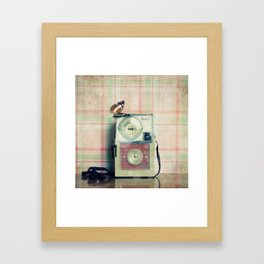Vintage Camera Love: Pink Kodak Hawkeye Flashfun! Framed Art Print