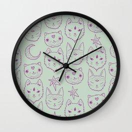 Mitty Mystics in Green Wall Clock