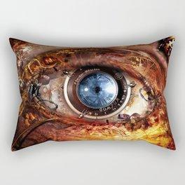 Steampunk camera's eye. Rectangular Pillow