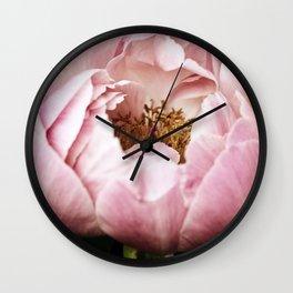 Glinda Pink Peony Wall Clock