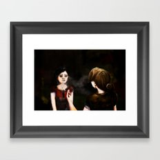 The Party Conversation Framed Art Print