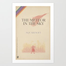 The Meteor in the Sky Art Print