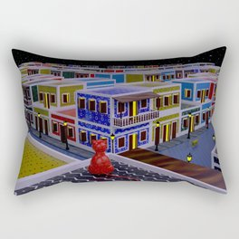 Vejigante City Rectangular Pillow