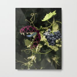 Don't Touch the Grapes Metal Print