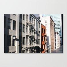 San Francisian Facades Canvas Print