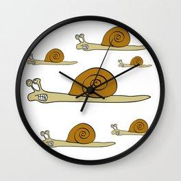Angry Snail Wall Clock