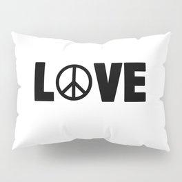 Hippie Love | Peace Hippie Sign Gift Idea Pillow Sham