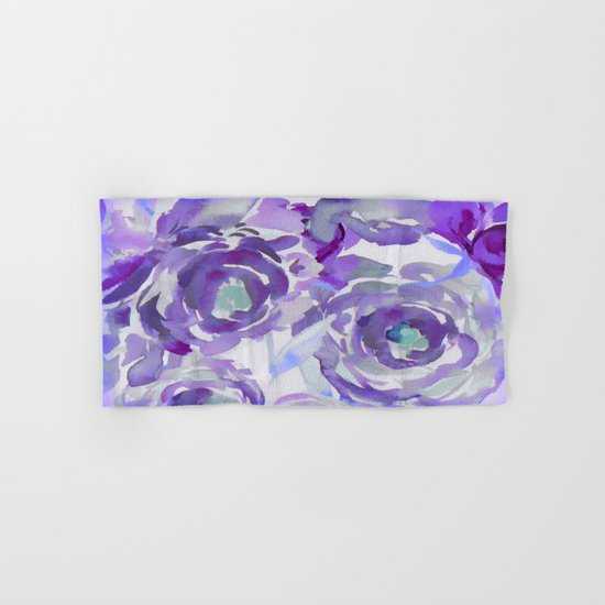 Purple Haze Painterly Floral Abstract Hand & Bath Towel