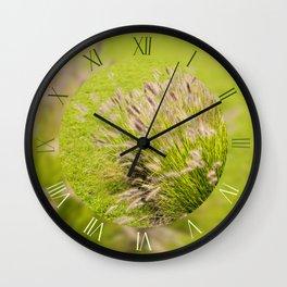 Grasses clump Pennisetum alopecuroides Wall Clock