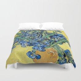 1890-Vincent van Gogh-Irises-73,5x92 Duvet Cover