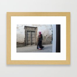 Woman in Pink Framed Art Print