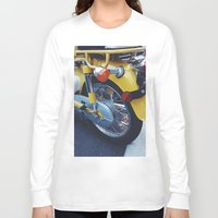 moto Long Sleeve T-shirts featuring Yellow Moto by ThingsLikeStuff