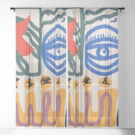 Eye for the flower Sheer Curtain