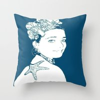marianna Throw Pillows featuring Hermosa Marianna by Alef