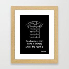 Homelessness (Black) Framed Art Print