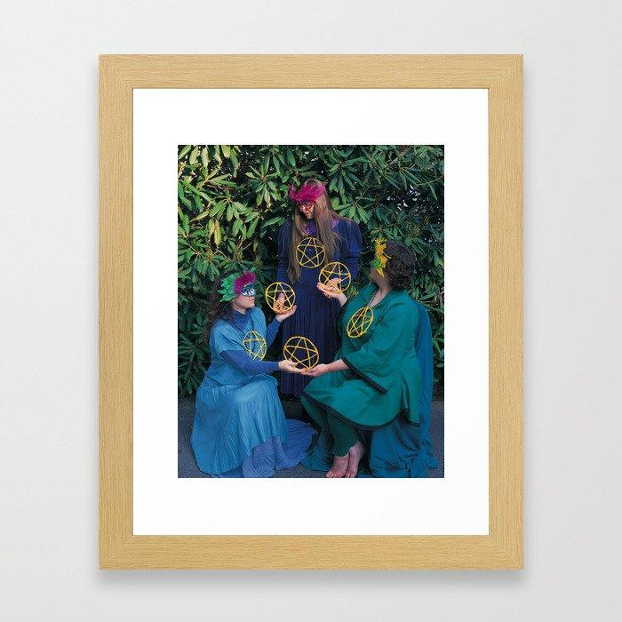 6 of Pentacles Framed Art Print